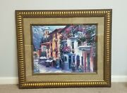 Authentic And Signed Howard Behrens Village Hideaway Painting