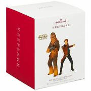 2018 Hallmark Solo A Star Wars Story Han Solo And Chewbacca 2 Ornaments Chewie