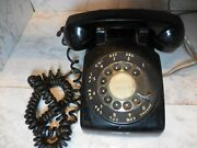 Vintage Bell System Western Electric Black Rotary Desk Telephone Phone For Parts