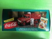 Coke Brand Truck Stake Truck With Coca-cola Vending Machine And Dolly Cart F296