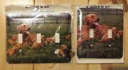"""""""a Switch In Art"""" Decorative 2 And 3 Switch Metal Switchplate Retrievers Dog New"""