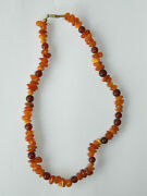 Natural Baltic Amber Beaded String Necklace Vintage Costume Jewelry Amber Beads
