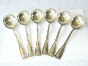 Vintage And Co Soup Spoons Set Sterling Silver Flatware 6 Pcs, Usa 1920s