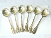 Vintage And Co Soup Spoons Set Sterling Silver Flatware 6 Pcs Usa 1920s