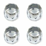 4x Chrome Wheel Center Hub Caps Snap-in Open-ended 3 3/8 Od 2 1/2 Height