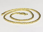 14kt Solid Yellow Gold Byzantine Square Super 30 2.5 Mm 32 Grams Chain/necklace