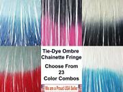 Ombre Chainette Fringes Tonal Multicolor Thread Yarn Loop Trim - Hand Dip Dyed