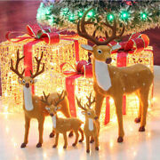 Deer Figure Christmas Doll White-tailed Reindeer Home Party Decoration Xmas Hq