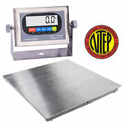 New Ntep 36x36 3and039x3and039 Floor Scale   Pallet Scale Stainless Steel / 2500 X .5