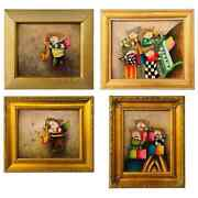 Set Of 4 Musician Oil On Canvas Paintings After Graeciela Rodo Boulanger