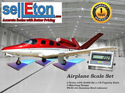 New Selleton Airplane Scale Kit With Matching Ramps 7500 Capacity / Portable