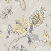 Jacobean Floral Wallpaper Gc29829 French Gray Gold Beige Washable Prepasted