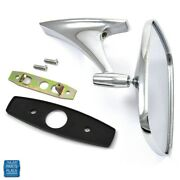 1971-1979 Gm Cars Chrome Outside Mirror Right Or Left Hand Side Gm 9826594