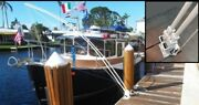Mooring Whips For Large Boats 35and039 To 65and039 Dual System 4 - 14and039 X 1 Solid Poles.