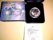 2005 1 Silver Proof Coin Aat Series - Leopard Sealextremely Rare