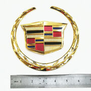 For Cadillac Wreath Crest 6 In Front Grill Grille 3d Logo Emblem Badge Sticker