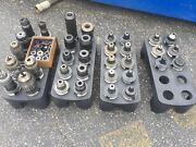 Lot Of 34+ Bt40 Tool Holders W/ Collets And Rack Accupro Free Shipping