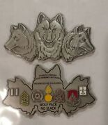 Challenge Coin Us Army Charlie Company 832d Ordnance Battalion Wolfpack Command