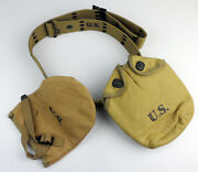 Ww2 Us Army Equipment Canvas Wwii Us M1936 Belt Water Bottle Shovel Cover