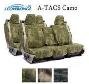 Coverking Custom Seat Covers Ballistic Canvas Front And Second Row - A-tacs Camo
