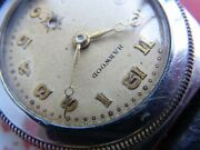 Rare Harwood Antique 1920's World First Automatic Watch Half Roter Overhauled
