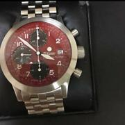 Tutima Germany Chronograph Fx 2 Red Dial Japan Limited 7750 Caliber Overhaul