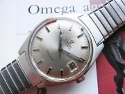 Auth Omega Geneve Automatic Cal.565 Silver Dial Watch Overhauled Vintage