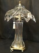 Cofrac Art Verrier Crystal French Glass Lamps