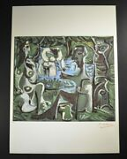 Pablo Picasso Signed Lithograph Female Figures In Green From Les Dejeuners