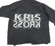 90s Rock Embassy Brand Kriss Kross Snap Up Black Jacket Adult Menand039s Size X-large