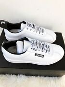 Nib White Leather Lace Up Weekend Sneakers 37.5 38 38.5