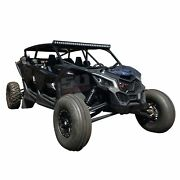 Can-am X3 Max And Max Turbo Custom Pro Race Cage W/ Whip/light Bar Tabs 4 Seater