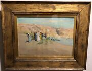 Frank Dean And039traders On The Nileand039 Original Oil/board Coll. Sir H. Sutcliffe