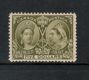 Canada 65 Very Fine Never Hinged Very Light Natural Gum Bend With Cert.