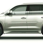 Painted Body Side Moldings With Chrome Trim Insert For Lexus Lx570 2015-2020