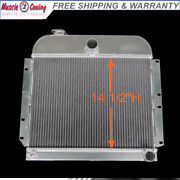 3 Rows Aluminum Radiator For 1941-1952 Plymouth Deluxe Concord Cranbrook 3.6l L6