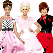 50s Ladies Fancy Dress 1950s Rock N Roll Retro Womens Adults Costume Outfits New