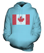 Canada Scribble Flag Unisex Hoodie Top Gift Canadian Football