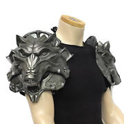 Wolf Head Pauldrons Larp Armour Larp Sca Theatrical Cosplay Armour Witcher