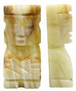 Aztec Bookends Green Onyx Aragonite 5.5 - The Artisan Mined Series By Hbar