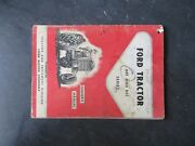 Ford 601 801 Series Tractor Ownerand039s Manual