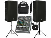 Mackie Bundle 1300 Watts Speakers, Mixer, Bag, Stands And Cables