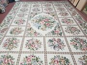 10and039 X 14and039 Hand Made French Aubusson Savonnerie Design Needlepoint Rug Nice