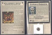 Herod The Great Coin.4bc-40adalbum And Cerificate