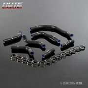 Fit For Toyota Mr2 Sw20 90-95 Silicone Radiator Coolant Hose Clamps Kit Black