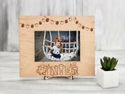 Baby Christmas Frame Wood Photo Frame First Christmas Gift Rustic Picture Frame