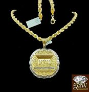 Real 10k Yellow Gold Menand039s Last Supper Charm/pendant With Rope Chainjesusangel