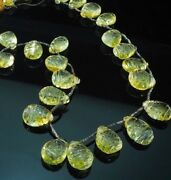 Best Grade Yellow Gold Carved Pineapple Gold Citrine Semiprecious Bead Necklace