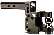 Bandw Black Tow And Stow Pintle Combo Hitch Receiver 2 Ball Ts10055 Adjustable Usa