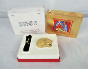 Estee Lauder White Line Solid Perfume Compact Kitten/cat In Box 1995